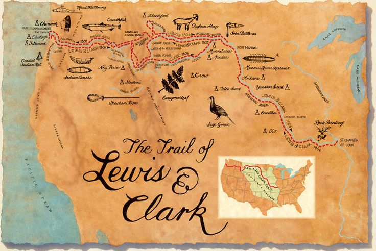 The Lewis and Clark National Historic Trail is a route across the United States commemorating the Lewis and Clark Expedition of 1804 to 1806. Description from imgarcade.com. I searched for this on bing.com/images