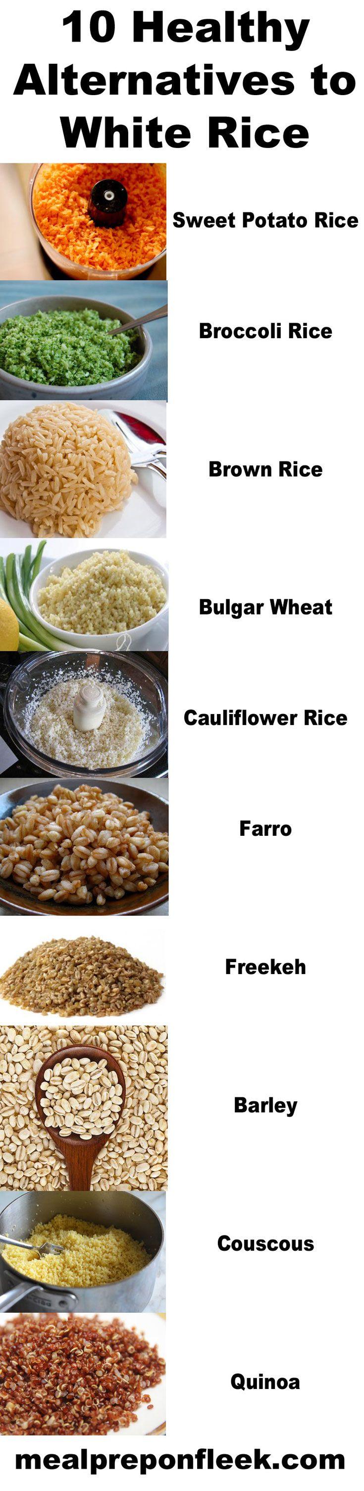 10 Healthy Alternatives to White Rice plus Recipes