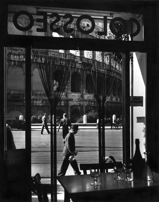 Herbert List  ITALY. Rome. Trattoria at the Colosseo. 1951.