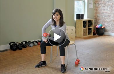 If you have a set of dumbbells and a chair, you can do this upper-body toning routine (just 7 minutes)