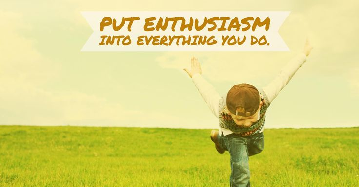Put enthusiasm into everything you do. -Dale Carnegie- #quotes #motivation