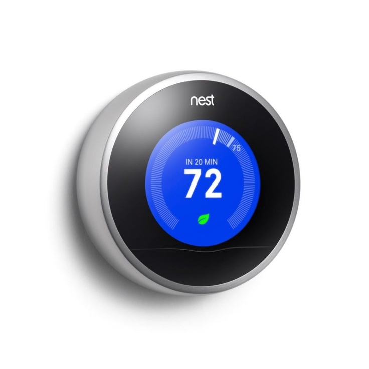 Nest WiFi Thermostat learns to save energy and can be controlled from anywhere with your iPhone! #thermostat #home #gadgets