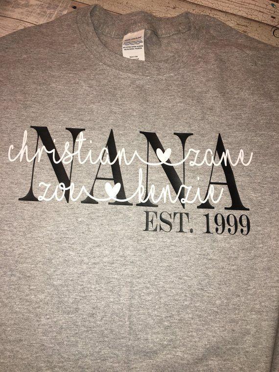 77837f2a4 Nana Shirt / Mama Shirt / mom shirt /Grandparent shirt / mimi shirt ...