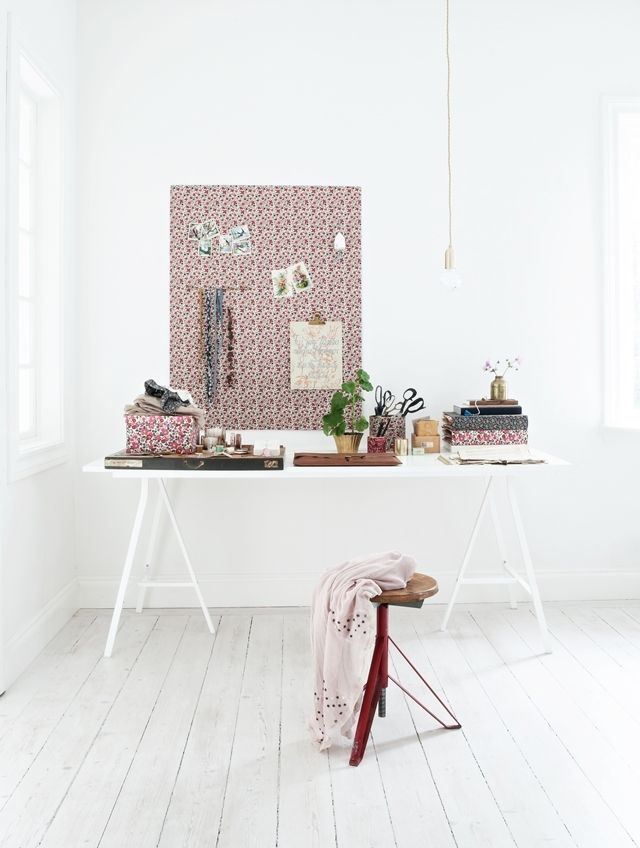 Mokkasin - work space, diy, liberty fabrics