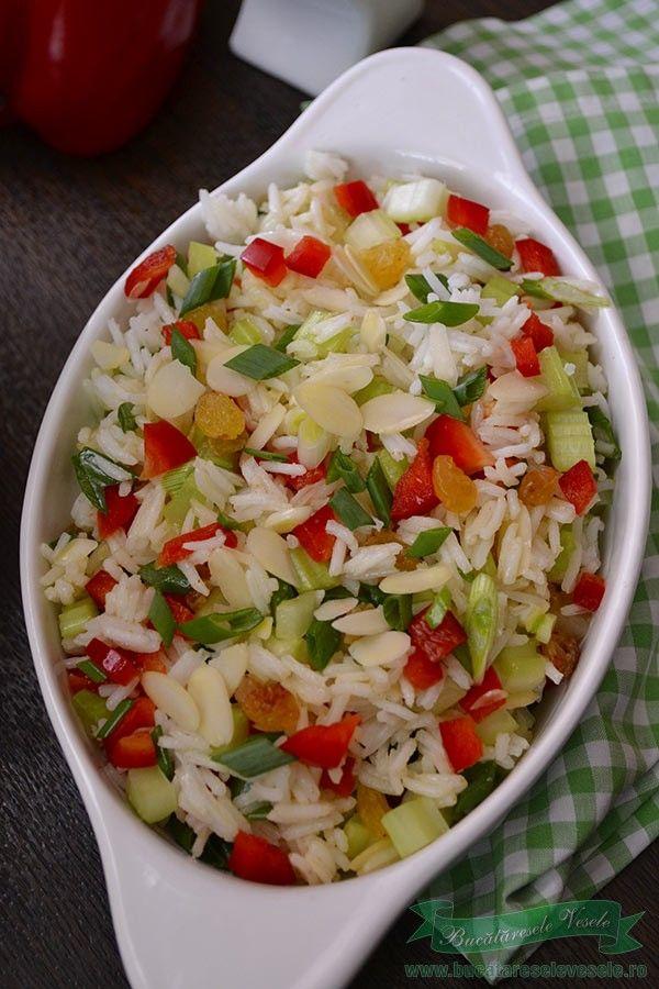 Salata de legume cu orez basmati.Salata de post cu orez si legume.Orez basmati Riso Scotti.Cum se face salata de orez basmati cu legume.