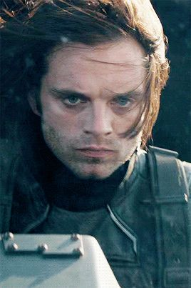 His face is completely devoid of expression and his eyes are empty and- oh Bucky why'd HYDRA do this to you?!