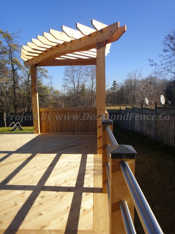 90 Degree Angle Deck Pergola Deckdesign Customdeck
