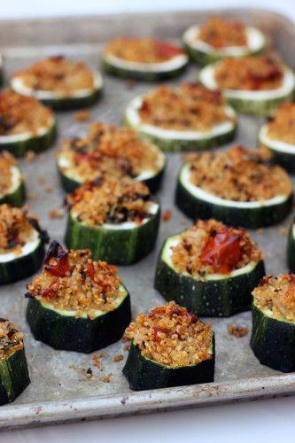 Quinoa stuffed zucchini bites - gluten-free appetizer recipe