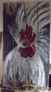 A Pretty Talent Blog: Chicken Duo: Rooster 1 In Acrylics