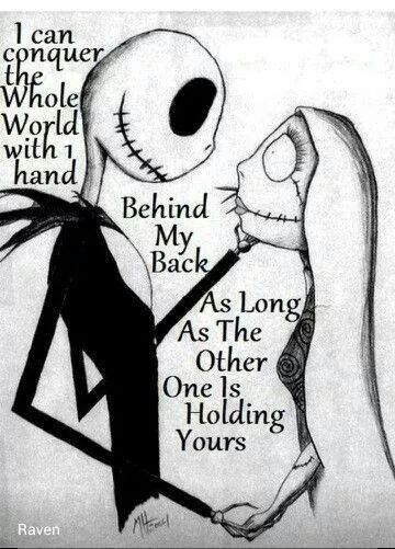 Tim Burtons nightmare before christmas.. I would love this as a couples tattoo.