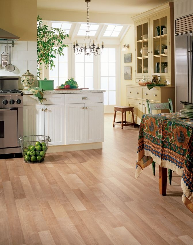 Armstrong Select Maple Natural Vinyl flooring kitchen