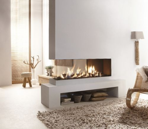 contemporary 3 sided fireplace (gas closed hearth) Lucius 140 CR 2/3 Glass Element4 B.V.