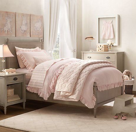 Elegant and sweet young girl's room. Would have loved it myself.
