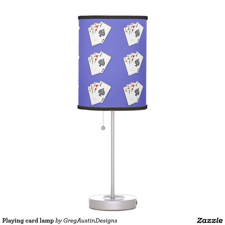 Playing card lamp