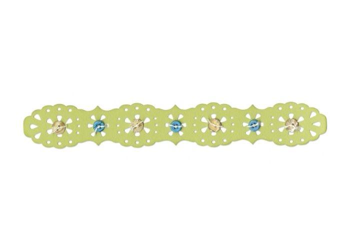 Sandras-Bastelladen | Sizzix Stanzer Sizzlits Decorative Strip Lace Edging #2 | Online kaufen