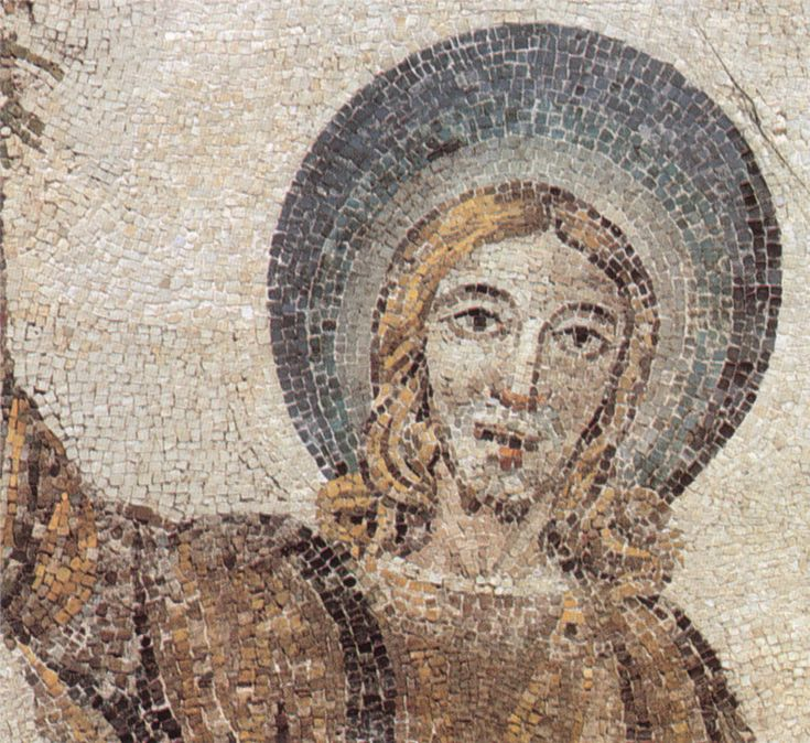 "Mausoleo di Santa Costanza.  A curious Jesus in the ""traditio legis"" mosaic"