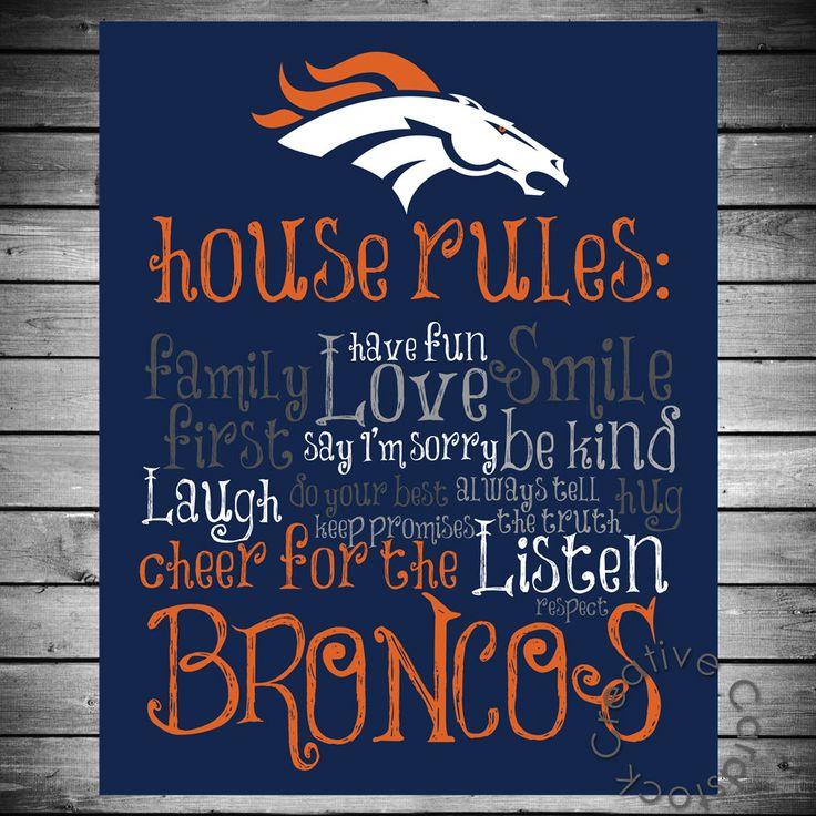 Denver Broncos House Rules - $12.50