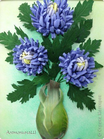 Painting mural drawing Quilling chrysanthemum or ASTER?  MK Paper Corrugated Paper Photo 1