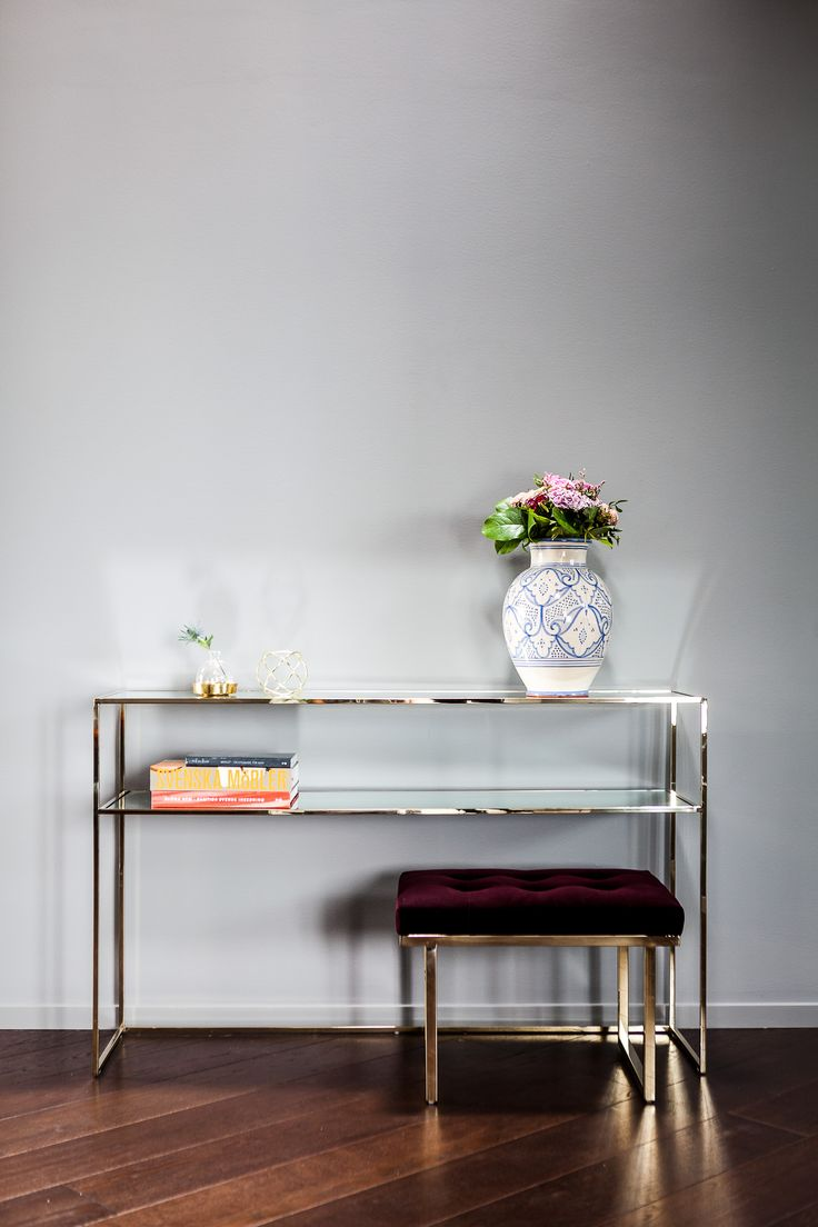 Gazelle Console Table Brass - Mirror Glass - Ruth & Joanna