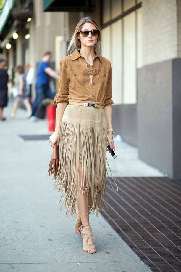 Olivia Palermo / A multi strands necklace dresses the neckline of a shirt nicely without adding bulk.