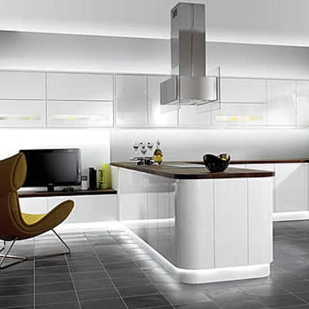 Kitchen wickes caledonia white gloss for Wickes kitchen designs