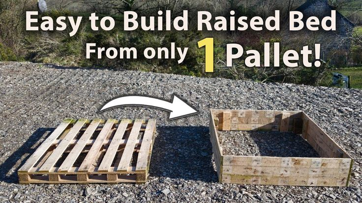 How To Build A Raised Bed From 1 Pallet Free And Easy 400 x 300