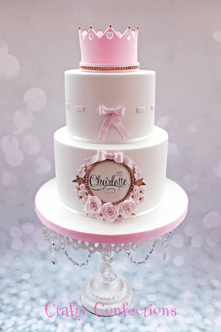 Charlotte 2 tier princess Christening cake | Crafty Confections | Flickr