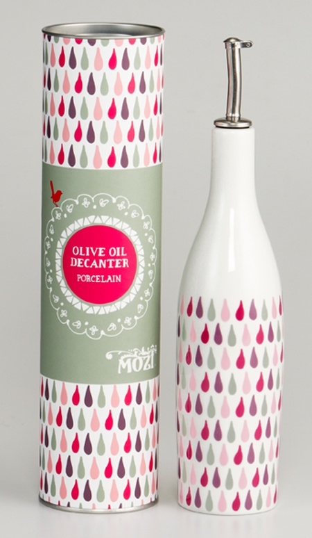 Olive oil decanter - raindrop