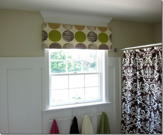 Quick And Easy No Sew Window Valance Budget Bathroom