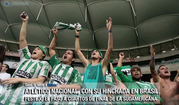 3-4 en penales: Nacional venció a Bahía y se medirá a Sao Paulo en cuartos  Hélder (4') marcó para los brasileños e iguló la serie 1-1 para obligar a los lanzamientos de penales, en los que Franco Armani fue la figura al atajar dos cobros. http://www.golcaracol.com/futbol-de-america/copasudamericana/articulo-279583-3-4-penales-nacional-vencio-a-bahia-y-se-medira-a-sao-paulo-cuartos