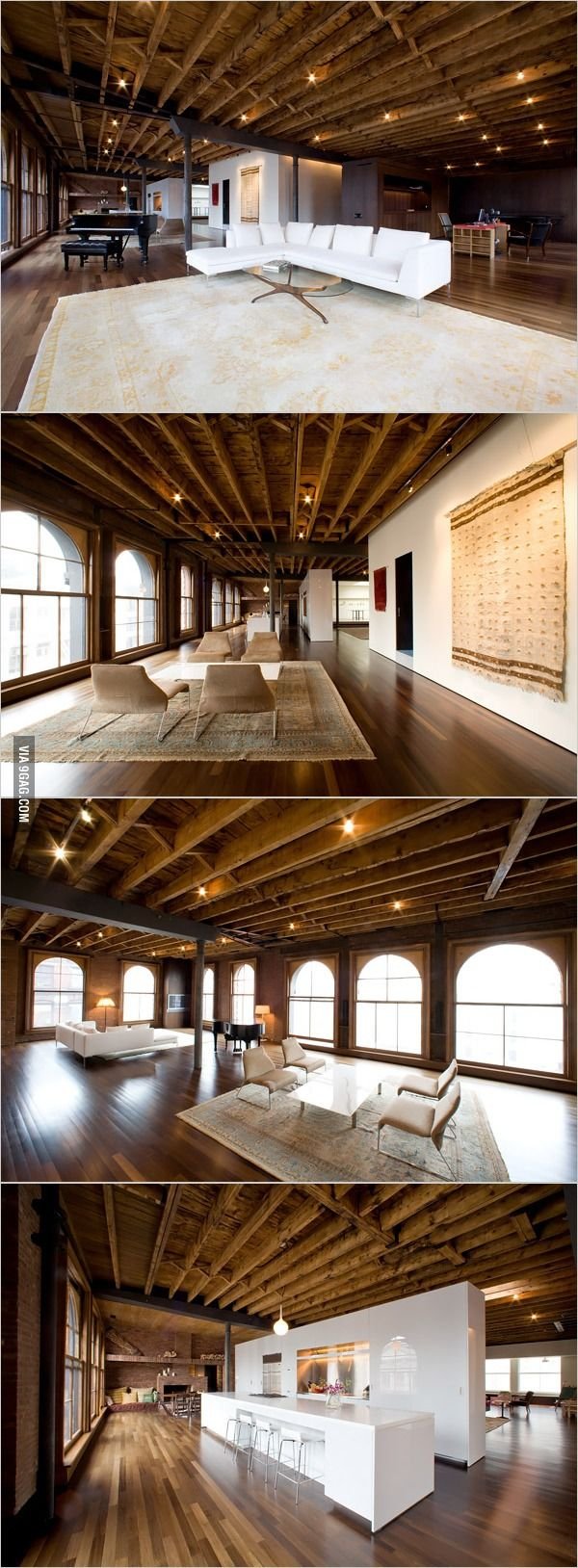 Urban loft style apartment for big family in new york city - What A 7 000 Sq Ft Loft In New York Looks Like