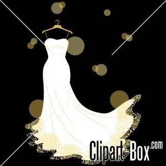 Free Wedding Gown Clipart