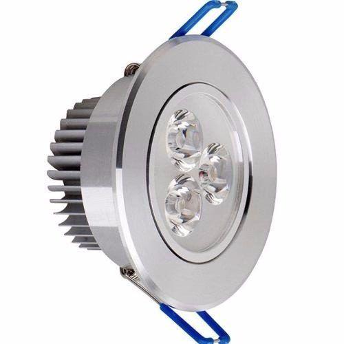 Spot Embutir Led 3w Aluminio Movible 220v Luz Fria - $ 95,00
