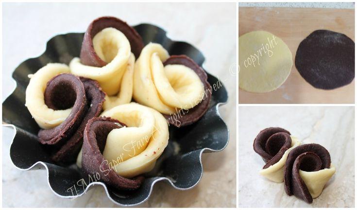 Rose di pan brioche bicolore  ricetta blog Il Mio Saper Fare