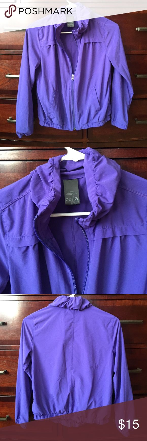Zella girl zip up Great condition color purple zip up size 10/12 Zella Girl Jackets & Coats