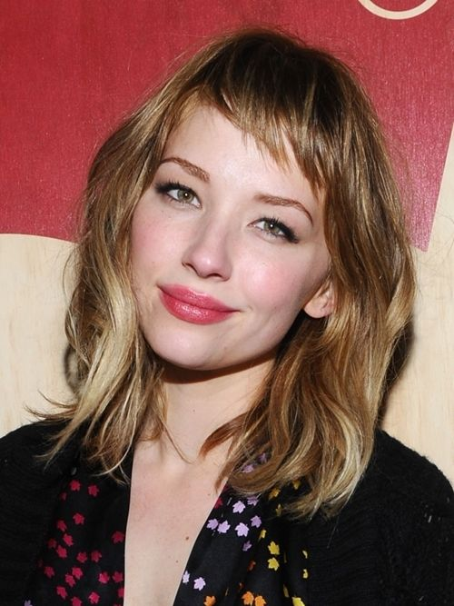 French Hairstyles french model louise follain will make you want bangs and a red lip immediately French Bob Haircut 20