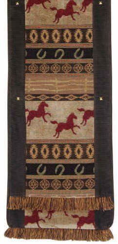 Jennifer Taylor 2763-551046 Table Runner, 16-Inch by 90-Inch, Cover 40-Percent Polyster and 60-Percent Rayon by Jennifer Taylor. $138.01. With studs and brush fringe. Table runner cover 40-percent polyster and 60-percent rayon. Home decor brings classic style and luxurious comfort to the home. Jennifer Taylor Table Runner, 16--inch by 90-inch, Cover 40-percent polyster and 60-percent Rayon, with studs and brush fringe, Classic Style