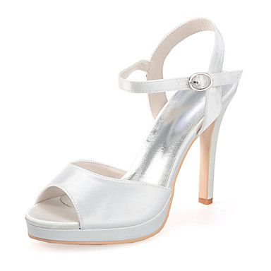 Women's+Shoes+Silk+Stiletto+Heel+Open+Toe+Sandals+Wedding/Party+&+Evening+More+Colors+available+–+CAD+$+62.54