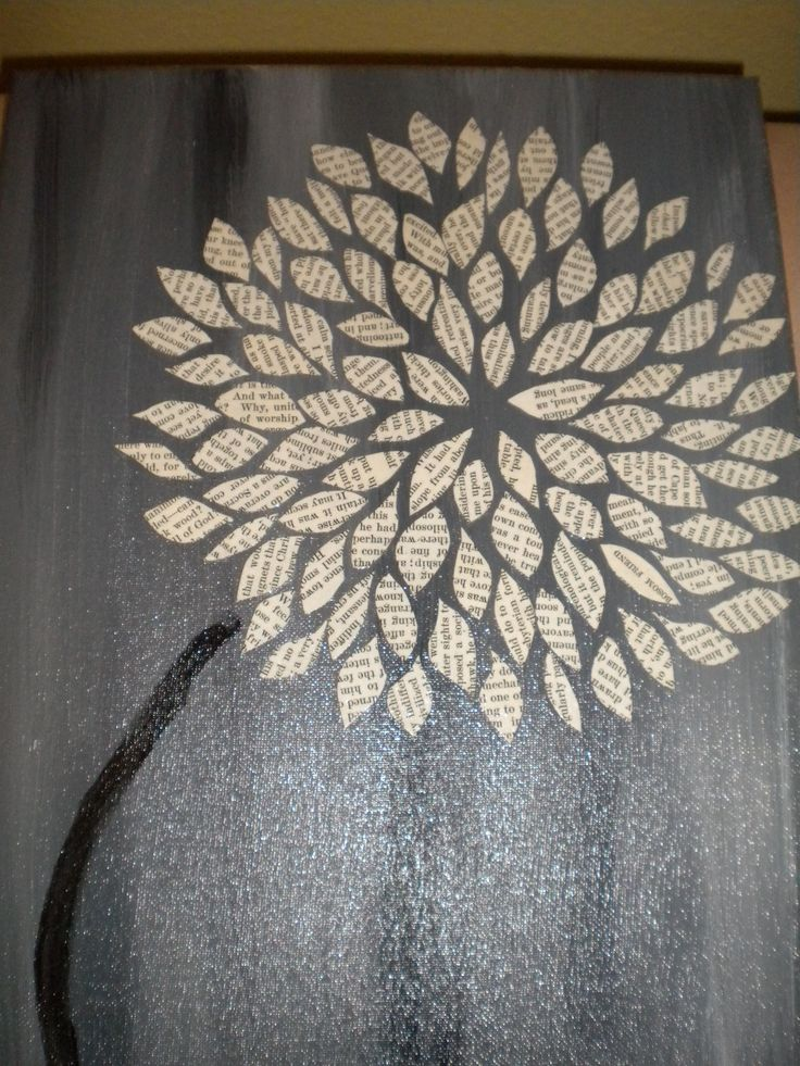 This week's art project...painted canvas and mod-podged on some petals cut from old books