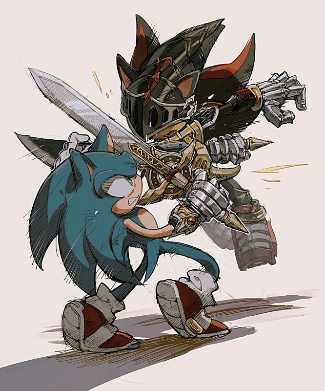 Sonic vs Sir Lancelot ... Super Sonic And Super Shadow And Super Silver Toys