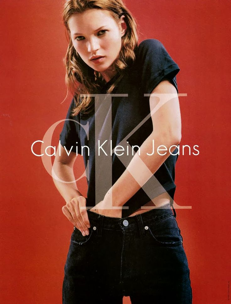 Kate Moss 90s Calvin Klein Jeans campaign
