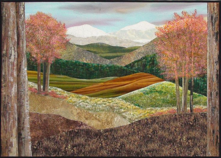 111 best Landscape Quilts images on Pinterest | Painting, Books ... : landscape quilting - Adamdwight.com