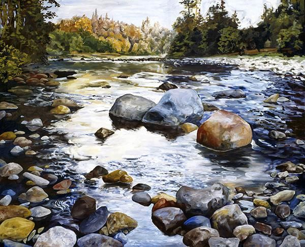 Lewis Riverbed   painting by Tom Wheeler