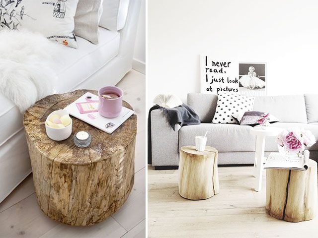 Tree Stump Coffee Tables by A Pair & a Spare