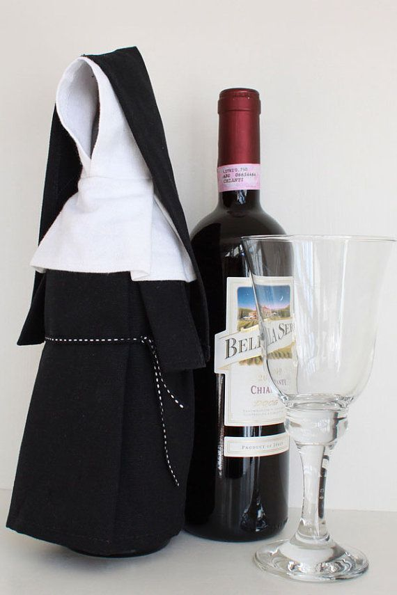 Wine Nun Wine Bottle Cover Costume and Unique Gift by WineMonk, $14.99
