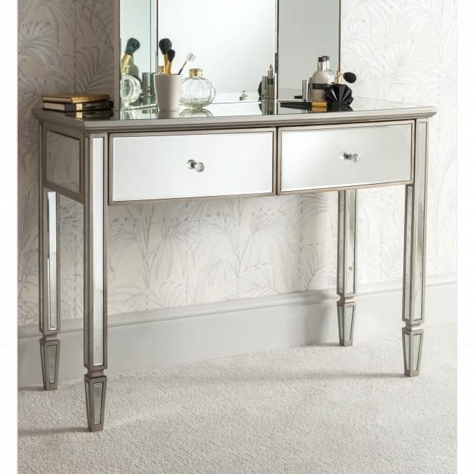 Louvre Mirrored Dressing Table Mirrored Furniture Luxury Decor Dressing Mirror