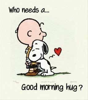 Morning Hug quotes cute quote morning charlie brown snoopy good morning