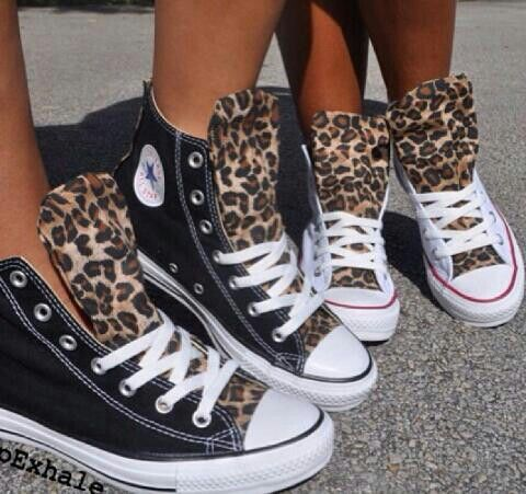 Leopard print converse - I want theeeeese and must have these!!                                                                                                                                                     More