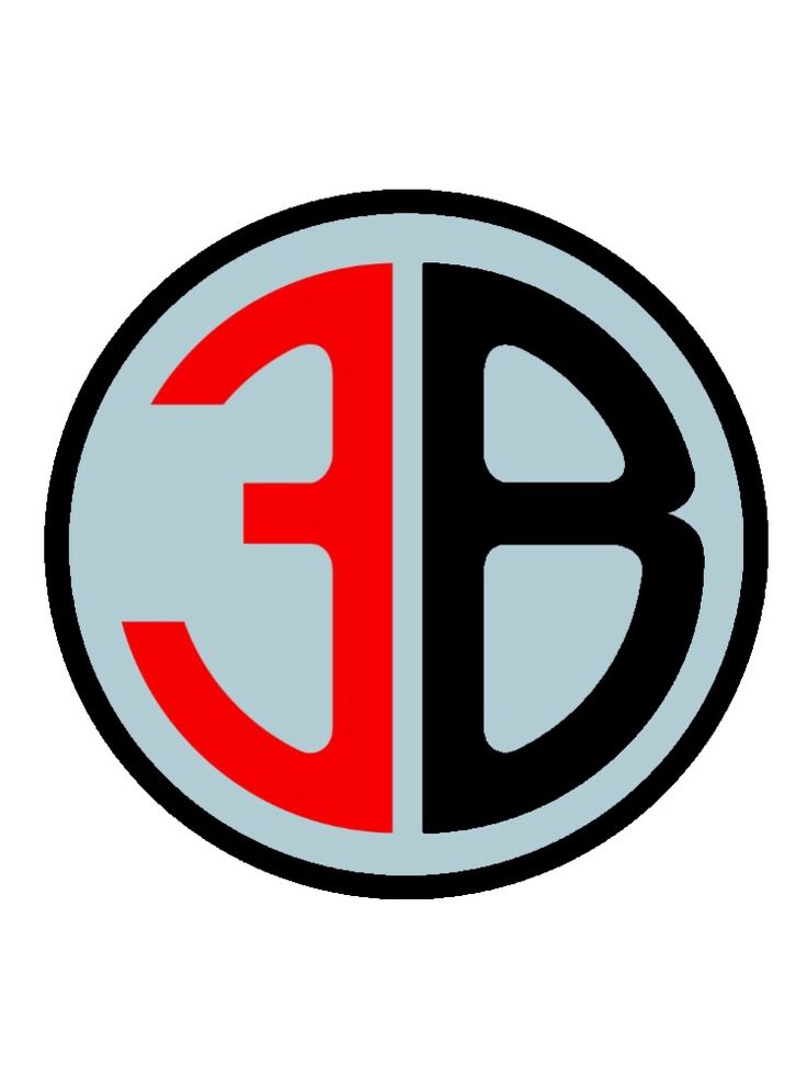 3B Logo Sticker