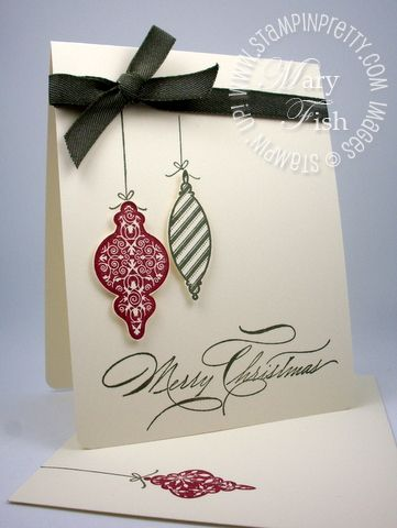 simple snipped ornaments: Cards Crafts Christmas, Mary Fish, Cards Ideas, Holiday Cards, Christmas Simply, Christmas Crafts Ideas To Sell, Ornaments Cards, Christmas Ornaments, Diy Christmas Cards